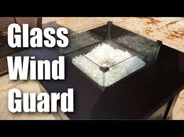 glass wind guard for square fire table