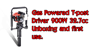 Gas Powered T Post Driver And T Post Installation Youtube