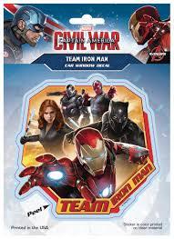 Feb168143 Captain America Civil War Team Iron Man Decal Previews World
