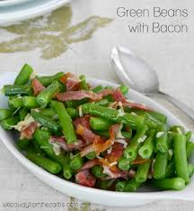 green beans with bacon step away from