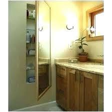 non mirrored recessed medicine cabinet