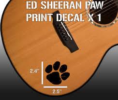 Ed Sheeran Paw Vinyl Decal Sticker For Guitar Car Laptop Window Ebay