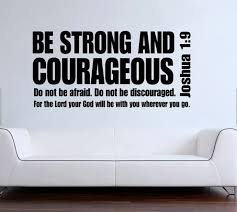 Joshua 1 9 Be Strong And Courageous Bible Verse Scripture Quote Vinyl Wall Decal Sticker Home Office Bedroom Encourage Stickers Printable Decal Printerdecal Paper Aliexpress