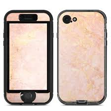 Skin For Lifeproof Nuud Iphone 7 Rose Gold Marble Sticker Decal Ebay