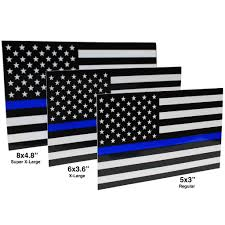 X Large Thin Blue Line Flag Decals Support For Law Enforcement Finelineflag