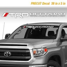 Product Toyota Trd Off Road Racing Tacoma Tundra Vinyl Decal Sticker Truck Windshield 1