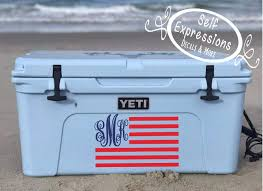 Monogram Flag Yeti Cooler Decal Self Expressions Decals More