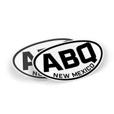 Oval Abq 2 Sticker Set 5 X 3 Albuquerque Weatherproof Window Vinyl Sticker Decals For Car Or Laptop Spacedust
