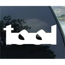 Amazon Com Tool Band White Logo Vinyl Decal Sticker Automotive