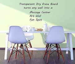 Amazon Com Clear Dry Erase Wall Decal 22 X 36 Premium Heavy Duty 2 5 Mil Wall Vinyl Dry Erase Sheets Peel Stick Dry Erase Board Clear Dry Erase Decals W