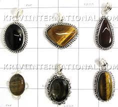 15 pc mix stone pendants