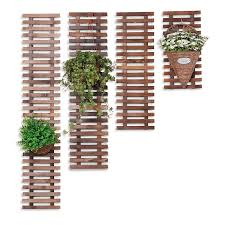 Usd 12 89 Balcony Hanging Wall Flower Rack Anti Corrosion Wood Living Room Wall Flower Rack Plant Hanger Solid Wood Wall Hanging Flower Pot Rack Fence Decoration Wholesale From China Online Shopping