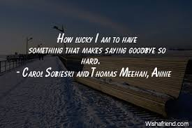 carol sobieski and thomas meehan annie quote how lucky i am to