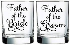 Father Of The Bride Father Of The Groom Vinyl Sticker Diy Wine Glass Decal Wedding Sticker