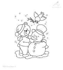 1001 Kleurplaten Kerst Beren Kleurplaat Beer Maakt Sneeuwpop