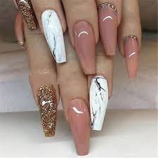 4 simple short acrylic summer nails