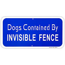 Smartsign Dogs Contained By Invisible Fence Sign 6 X 12 3m Engineer Grade Reflective Aluminum Yard Signs Amazon Com Garden Outdoor