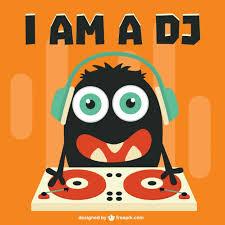 cute dj cartoon character free vector