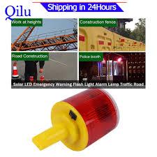Lowest Price 1pc Solar Led Emergency Warning Flash Light Alarm Lamp Traffic Road Boat Red Light Lazada Ph