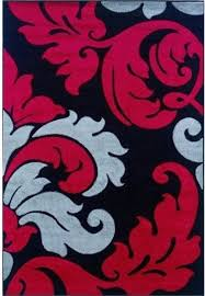 Hawthorne Collection 5 X 7 7 Kids Area Rug In Black And Red Contemporary Kids Rugs By Homesquare