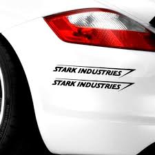 2pcs Stark Industries Car Sport Racing Body Stripes Stickers Vinyl Decals Buy At A Low Prices On Joom E Commerce Platform