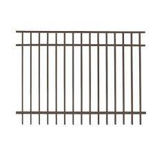 Vinings 5 Ft H X 6 Ft W Bronze Aluminum Pre Assembled Fence Panel Aluminum Fence Fence Panels Diy Fence