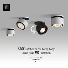 Đèn LED Âm Trần Downlight Góc Điều Chỉnh Đèn LED Chiếu Điểm 220 V Trắng/Đen  10W 15W CREE Chip Hành Lang Sống phong Cho Chiếu Sáng Trong Nhà|