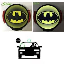 Cute Bright Glowing Batman Sign Led Light Safety Funny Logo Car Decal Wireless For Taxi Drivers Wish