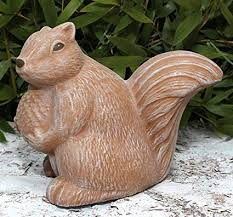 garden ornament squirrel cast stone