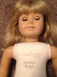 American Girl vintage pre Mattel Kirsten west Germany white body  autographed | #1845420770
