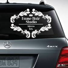 Wall Auto Glass Decal Sign Hair Salon Custom Name Beauty Signboard Title M1756 96802400186 Ebay
