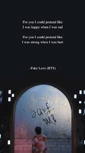 fake love by bts lyrics bts lyrics