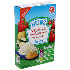 Bột ăn dặm Heinz ngũ cốc và rau củ hỗn hợp 125g 4M+
