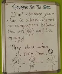 thought for the day don t compare your child to others