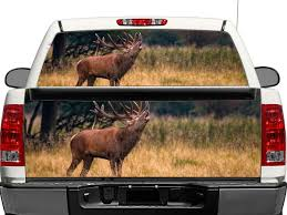 Product Deer Wildlife Nature Rear Window Or Tailgate Decal Sticker Pick Up Truck Suv Car