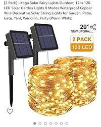 litogo solar fairy lights outdoor