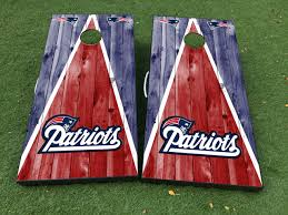 Product New England Patriots Cornhole Board Game Decal Vinyl Wraps With Laminated
