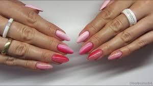 Pink Ombre Manicure Rozowy Gradient Cieniowane Hybrydy Chiodo