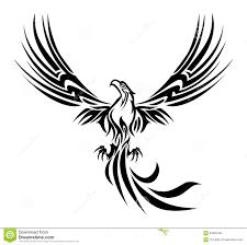 Phoenix Tatuaz Ilustracji Ilustracja Zlozonej Z Uniesmiertelnia