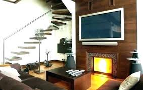 tv next to fireplace ideas simple