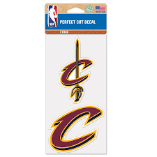 Cleveland Cavaliers Wincraft 4 X 4 Perfect Cut 2 Pack Car Decal Set