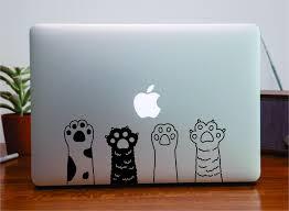 Cat Paws Laptop Sticker Wall Decal Car Truck Window Vinyl Art Decor Ma Boop Decals