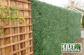 Artificial Conifer Privacy Screen Hedging Fencing Garden Wall Cover Grass Roll Ebay