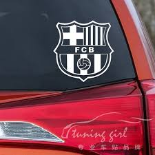 Car Stickers Spain Barcelona Football Club Creative Decals For Laptop Tablet Vinyls Auto Tuning Styling 14x14cm 1 Barcelona Football Car Stickers Football Club