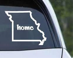 Missouri Home State Outline Mo Usa America Die Cut Vinyl Decal Sticker Decals City