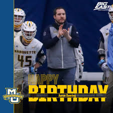 "Marquette Lacrosse on Twitter: ""Wishing a very happy birthday to our  athletic trainer, Aaron Doering. Thanks for all you do Aaron!  #WeAreMarquette… """