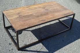 wood metal coffee table barkeaterlake com