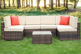 6 seater rattan sofa table garden