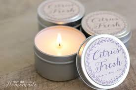 easy diy soy candles printable labels