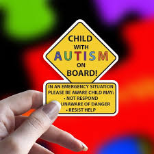 Child With Autism On Board Car Truck Decal Sticker Etsy
